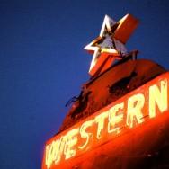 the western motel original vintage neon sign, tucson, arizona