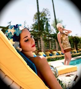arizona inn, tucson, arizona. vintage bathing beauties
